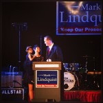 Mark Lindquist's family at kickoff concert